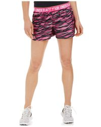 Under Armour | Pink Play Up Printed Shorts | Lyst