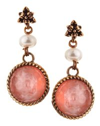 Stephen Dweck - Pink Rose Quartz Dangling Earrings - Lyst
