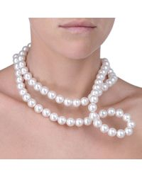 Stella McCartney - Pure White Pearl Necklace - Lyst