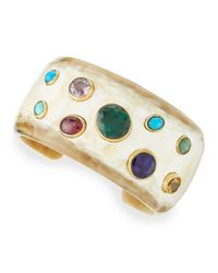 Ashley Pittman | Natural Macho Multi-stone Cuff | Lyst