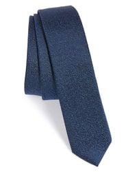 The Kooples - Black Marble Jacquard Silk Tie for Men - Lyst
