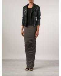 Rick Owens Lilies | Gray Draped Cotton-Blend Maxi Skirt | Lyst
