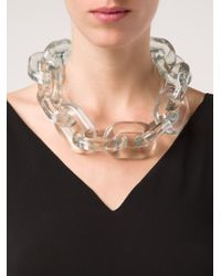 Stella McCartney | White 'bijoux Butter Plexi' Necklace | Lyst