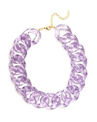 BaubleBar - Purple Lucite Jewel Links - Lyst