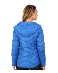 Sam Edelman | Blue Hooded Packable Down Jacket | Lyst