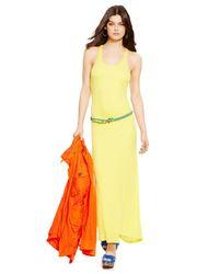Polo Ralph Lauren - Yellow Racerback Maxi Dress - Lyst