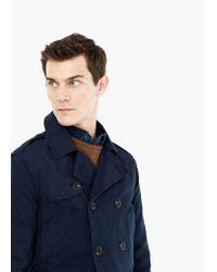 Mango | Blue Cotton-blend Trench Coat for Men | Lyst