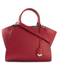 Fendi  3Jours  Tote in Red - Lyst 71adf6a8d6d08