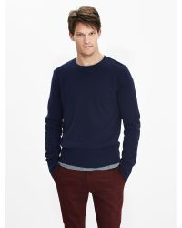 Banana Republic | Blue Todd & Duncan Cashmere Baseball Sweater Pullover for Men | Lyst