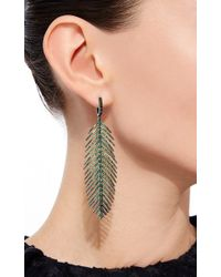 Sidney Garber - Green Feathers That Move Earrings - Lyst