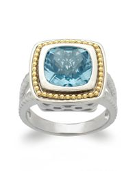 Lord & Taylor | Sterling Silver And 14kt. Yellow Gold Sky Blue Topaz Ring | Lyst