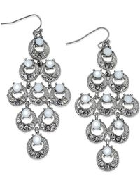 INC International Concepts | Metallic Silver-tone Multi-circle Chandelier Earrings | Lyst