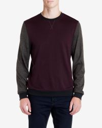 Ted Baker | Red Colour Block Crew Neck for Men | Lyst