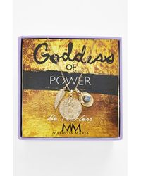 Melinda Maria | Metallic 'Goddess Of Power' Boxed Cluster Pendant Necklace | Lyst