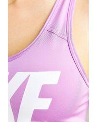 Nike - Purple Pro Classic Sports Bra - Lyst