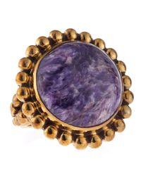Stephen Dweck | Metallic Charoite Bead Ring | Lyst