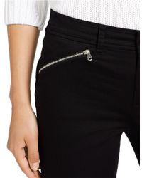 Lauren by Ralph Lauren | Black Zip-pocket Straight-leg Pants | Lyst
