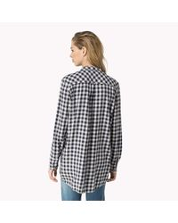 Tommy Hilfiger | Blue Cotton Viscose Check Shirt | Lyst