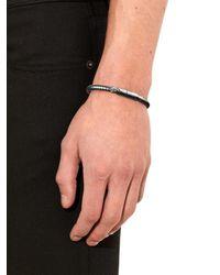 Bottega Veneta | Metallic Intrecciato Oxidised-Silver Bracelet for Men | Lyst
