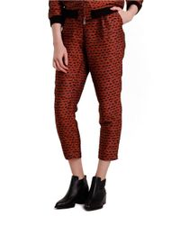 Nikki Chasin | Red Patterned Jacquard Pants | Lyst