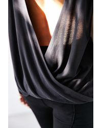 Silence + Noise | Black Joey Surplice-back Top | Lyst