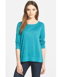 Halogen Blue Side Zip Sweater