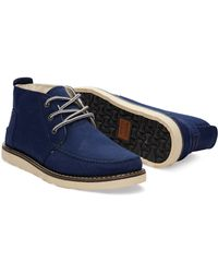TOMS | Blue Eclipse Cotton Twill Men's Chukka Boots for Men | Lyst