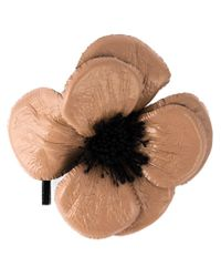 Erika Cavallini Semi Couture | Pink Flower Brooch | Lyst