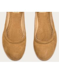 Frye | Natural Carson Ballet | Lyst