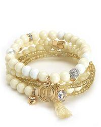 Juicy Couture | Multicolor Beaded Stretch Bracelet Set | Lyst