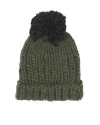 TOPSHOP - Natural Womens Chunky Hand Knit Beanie  Khaki - Lyst