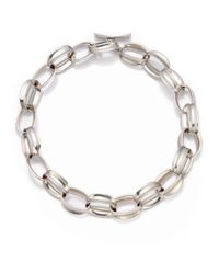 Saks Fifth Avenue | Metallic Sterling Silver Oval Chain Necklace | Lyst
