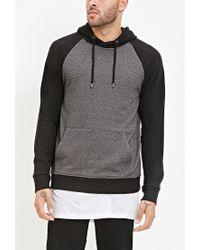 Forever 21 - Gray Colorblocked Raglan Hoodie for Men - Lyst