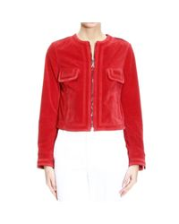 Mauro Grifoni | Red Split Leather Zipped Motor Jacket | Lyst