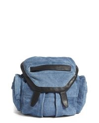 Alexander Wang | Blue 'mini Marti' Leather Backpack | Lyst