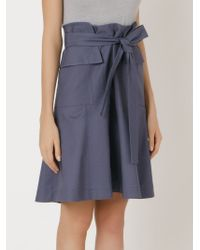Giuliana Romanno | Blue Belted Flared Skirt | Lyst