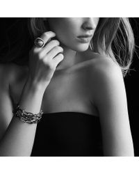 David Yurman - Black & Gold Three-row Chain Bracelet - Lyst