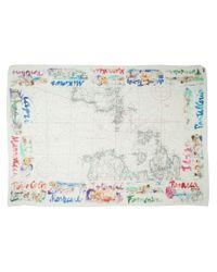Faliero Sarti   White Map Print Scarf   Lyst
