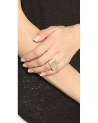 Elizabeth and James | Metallic De Maria Ring - Gold | Lyst