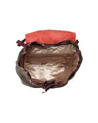 DKNY - Brown Nylon W/ Rub Drawstring Backpack - Lyst