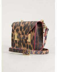 Sophie Hulme - Brown Leopard Print Satchel - Lyst