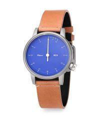 Miansai | Blue M24 Leather Strap Watch | Lyst