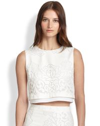 A.L.C. - White Maxwell Lace Cropped Top - Lyst