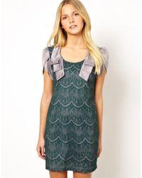 Traffic People - Green Streamer Lace Dress - Lyst