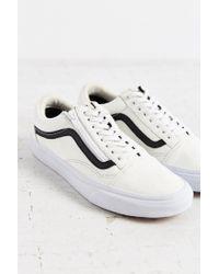 Vans - Black Leather Old School Zip Sneaker - Lyst