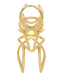 Eddie Borgo | Metallic Pave Winged Hinged Ring | Lyst