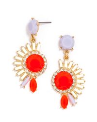 BaubleBar - Orange Electric Mohawk Drops - Lyst