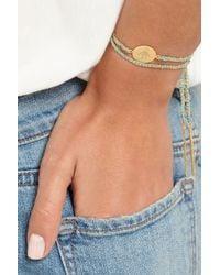 Carolina Bucci   Metallic Baby Boy Lucky 18karat Gold Silk and Diamond Bracelet   Lyst
