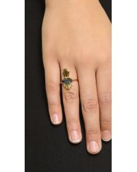 Jacquie Aiche | Metallic Eye Ring - Black/gold | Lyst