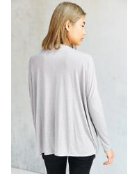 Silence + Noise - Gray Olivia Surplice Top - Lyst